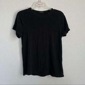 ATM Heather Short Sleeve Black Tee T Shirt